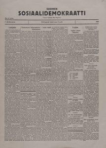 sosialidemokraatti_etusivu_1918