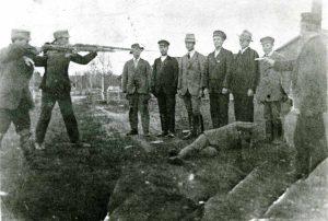 Punakaartilaisia teloitetaan Tammisaaressa