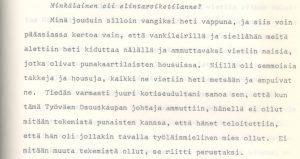 Muistelija: Aarno G., s. 1895. Työväen Arkisto/ Työväen muistitietotoimikunnan kokoelmat.