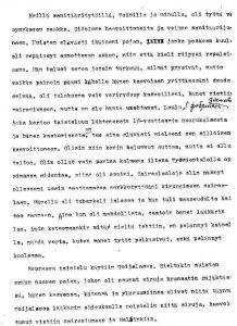 Sanitäärityttö sodassa. Muistelija: Kaija J., syntymäaika ei tiedossa. Kansan Arkisto.