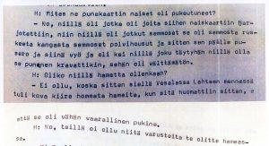 Muistelija: Aino T., s. 1894. Työväen Arkisto/ Työväen muistitietotoimikunnan kokoelmat..