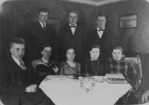Lammin työväenyhdistyksen opintokerho vuonna 1928.
